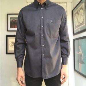 Eton Twill Cotton Button Down Shirt Cotton Modern